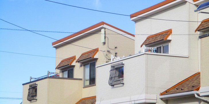 住宅の並び